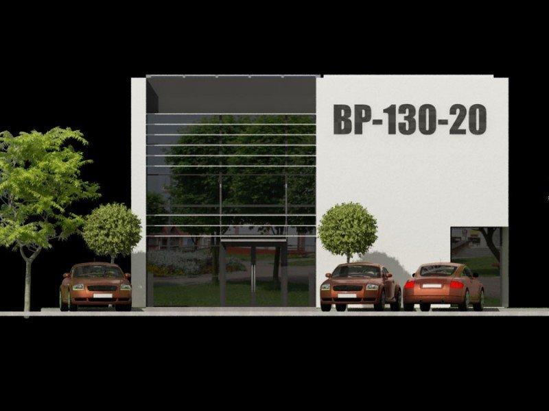 Projekt biurowca PS-BP-130-20 WERSJA WOLNO STOJĄCA o pow. 271,78 m2
