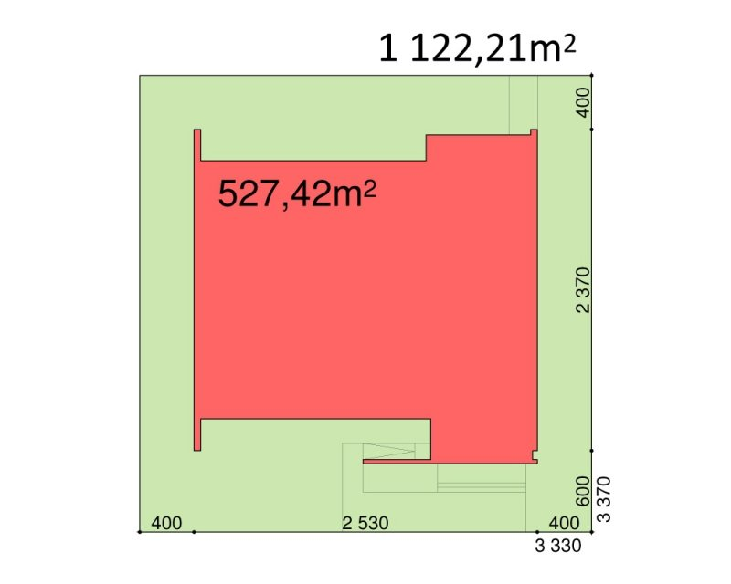 Projekt biurowca / hotelu PS-BR-440-40 o pow. 1814,44 m2