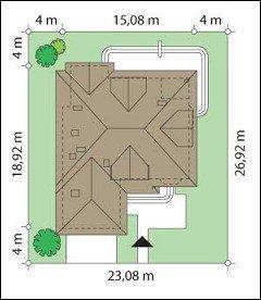 Projekt domu Sympatyczny pow.netto 234,09 m2