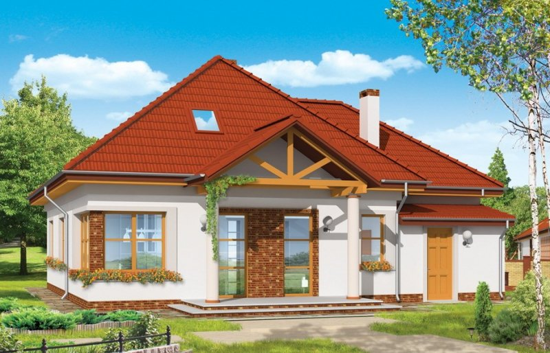 Projekt domu Mazurek III pow.netto 125,84 m2