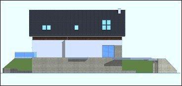 Projekt domu Dom na górce pow.netto 258,89 m2