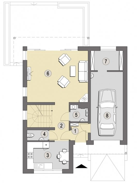 Projekt domu Bol B o pow. 106 m2