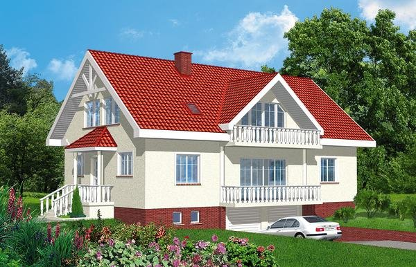 Projekt domu D2-2.12a pow. 195,2 m2