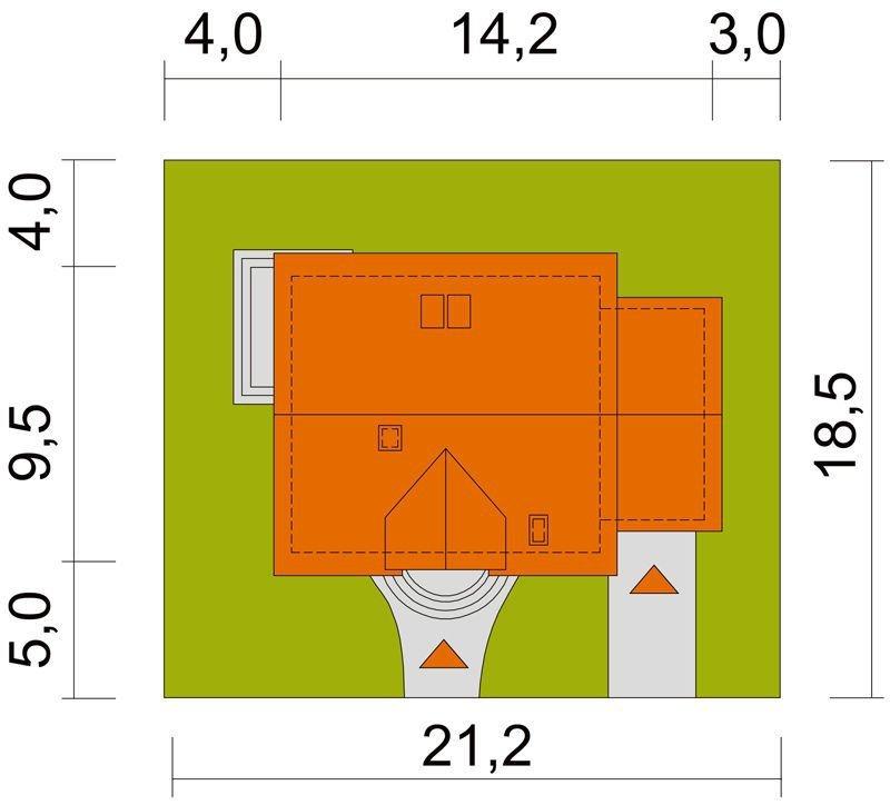 Projekt domu Agatka z garażem i małą kotłownią pow. 119,3 m2