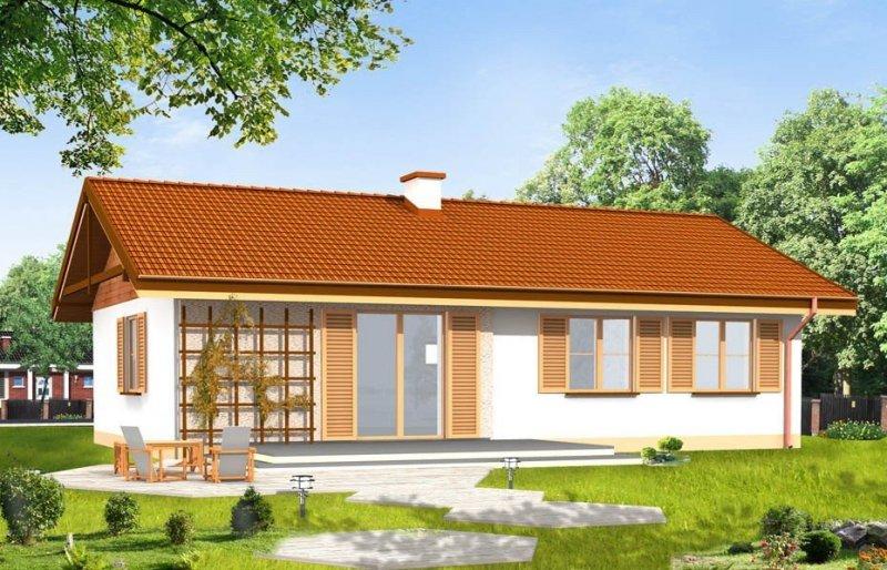 Projekt domu Słoneczny pow.netto 89,78 m2