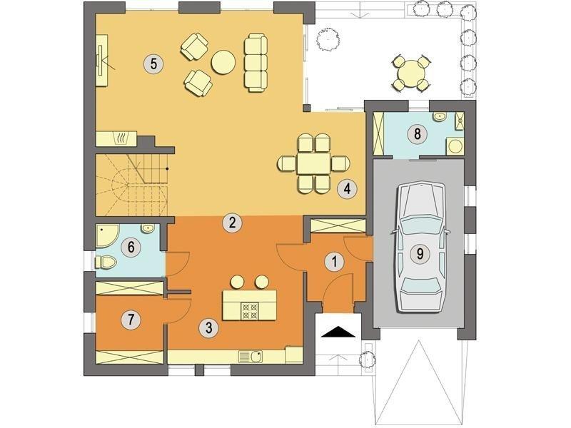 Projekt domu Teneryfa A