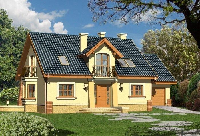 Projekt domu SZMARAGD z garażem 1-stanowiskowym