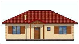 Projekt domu Jak marzenie pow.netto 88,53 m2