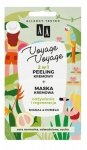 AA Voyage Voyage Peeling kremowy + Maska kremowa 2w1 Migdał i Pomelo  2x5ml