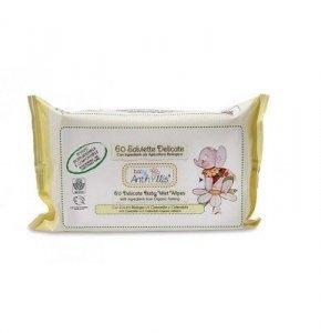 BABY ANTHYLLIS Biodegradowalne kompostowalne chusteczki nawilżające do pielęgnacji skóry dziecka z rumiankiem i nagietkiem 60szt