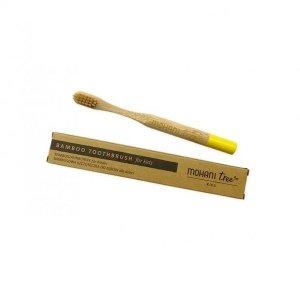MOHANI Bambusowa szczoteczka do zębów DLA DZIECI włosie miękkie ŻÓŁTA