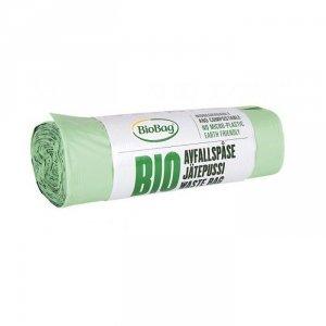 BioBag Worki na odpady organiczne i zmieszane w 100% biodegradowalne i kompostowalne 140L rolka 10 sztuk