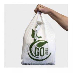 BioBag Torba na zakupy T-shirt 100% kompostowalna 36x26cm, 10 sztuk