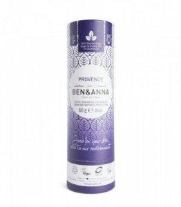 BEN&ANNA Naturalny Dezodorant na bazie Sody PROVENCE (sztyft kartonowy) 0% Aluminium 60g
