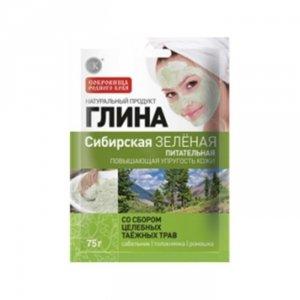 Glinka syberyjska zielona - odżywcza (poprawia napięcie skóry) - z dodatkiem ziół - siedmiopalecznik, mącznica lekarska, rumiane
