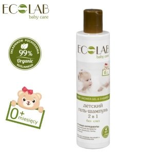 Eco Laboratorie Żel pod prysznic & szampon do włosów dla dzieci od 0+ bez łez (bez silikonów, parabenów, barwników, syntetycznych konserwantów),
