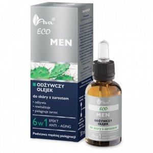 Eco Men odżywczy olejek do skóry z zarostem dla mężczyzn 30ml - AVA