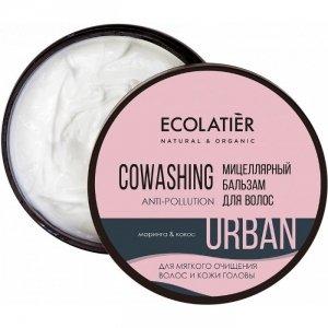 Micelarna oczyszczająca odżywka do włosów Moringa i kokos, 380 ml, ECOLATIER URBAN