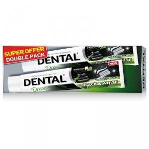 Duopack DENTAL Black & White Wybielająca pasta do zębów, 2x75 ml