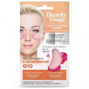 Płatki hydrożelowe do skóry wokół oczu Hialuronowe z koenzymem Q10 Beauty Visage 7g - Fitokosmetik