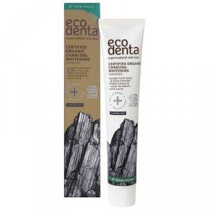 ECODENTA Certyfikowana organiczna węglowa pasta do zębów,Wybielająca z owocami dżungli, 75 ml
