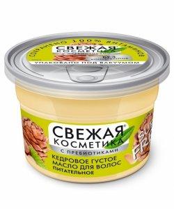 Gęsty olej-cedrowy do włosów Odżywczy z serii Fresh Cosmetics, 180ml - Fitokosmetik