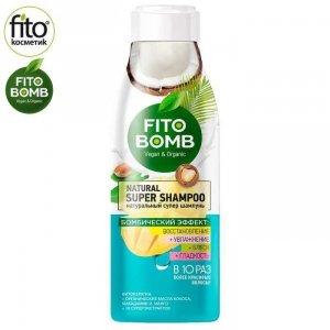 FITO BOMB Szampon do włosów, regeneracja Kokos i Mango, 250ml - Fitokosmetik