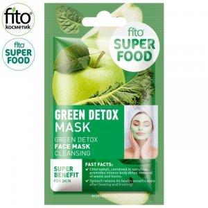 FITO SUPERFOOD Maska do twarzy, oczyszczanie, zielony detox, 10 ml