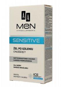 AA Men Hypoallergenic Żel po goleniu chłodzący Sensitive  100ml