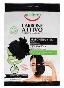 Equilibra Carbone Attivo Maska do twarzy oczyszczająca z aktywnym węglem Detox  1szt
