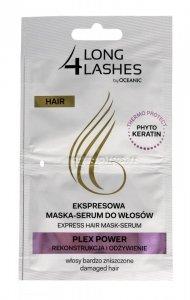 Long 4 Lashes Ekspresowa Maska-Serum do włosów Plex Power  6mlx2