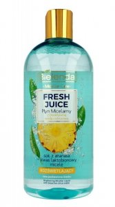 Bielenda Fresh Juice Płyn micelarny rozświetlający z wodą cytrusową Ananas 500ml