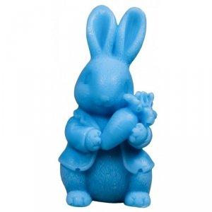 LaQ Mydełko glicerynowe Królik z marchewką - niebieski  30g