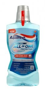 Aquafresh All In One Protection Płyn do płukania ust Fresh Mint  500ml