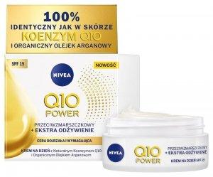 Nivea Q10 Power Krem przeciwzmarszczkowy + Extra odżywienie SPF15 na dzień 50ml