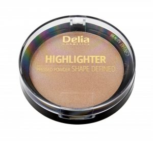 Delia Cosmetics Shape Defined Highlighter Puder prasowany rozświetlający nr 301 9g