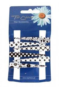 Top Choice Spinki do włosów typu dzioby we wzorki (25020)  1op.-6szt