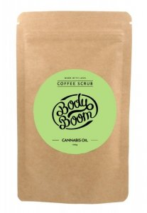 BodyBoom Peeling kawowy do ciała - Cannabis Oil  100g