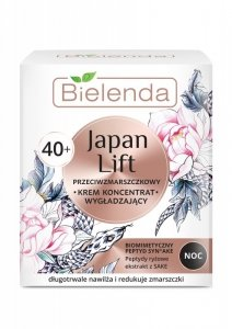 Bielenda Japan Lift 40+ Wygładzający Krem-koncentrat przeciwzmarszczkowy na noc  50ml
