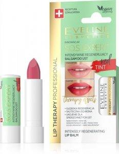 Eveline Lip Therapy S.O.S. Expert Intensywnie regenerujący balsam do ust Tint Red  1szt