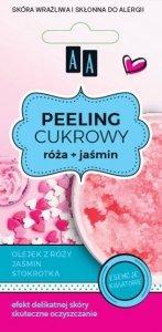 AA Sugar Scrub Peeling cukrowy glicerynowy Róża + Jaśmin  8ml