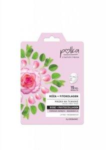 POLKA Maska na tkaninie Róża + Fitokolagen - poprawa napięcia + regeneracja  1szt