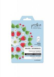 POLKA Maska na tkaninie Malina + Witamina B3 - nawilżenie + odżywienie  1szt