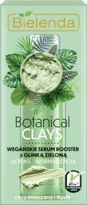 Bielenda Botanical Clay Zielona Glinka Wegańskie Serum Booster do twarzy 30ml