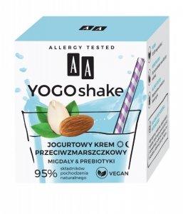 AA Yogo Shake Jogurtowy Krem przeciwzmarszczkowy Migdały & Prebiotyki na dzień i noc 50ml