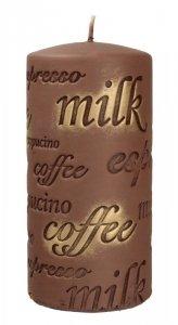 ARTMAN Świeca ozdobna Coffee - walec średni brązowy 1szt