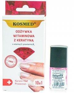 Kosmed Odżywka do paznokci witaminowa z keratyną 10w1  9ml