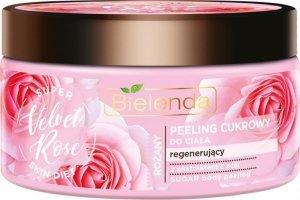 Bielenda Super Skin Diet Velvet Rose Peeling do ciała cukrowy regenerujący  350g