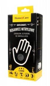 Home & Care Gentleman's Rękawiczki nitrylowe męskie - rozmiar L  1op.-40szt