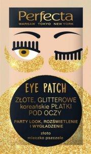 Perfecta Eye Patch Złote Glitterowe Koreańskie Płatki pod oczy  1op.-2szt